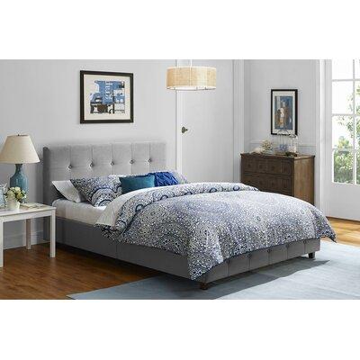 Amherst Upholstered Panel Bed Size: Full, Upholstery: Gray