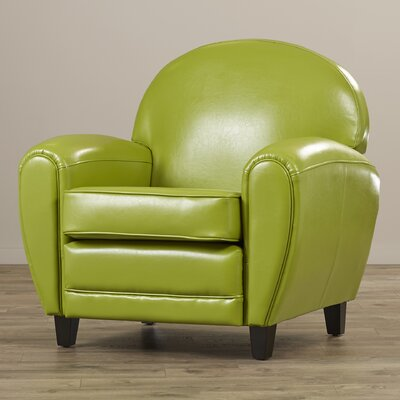 Alden Arm Chair Upholstery: Green