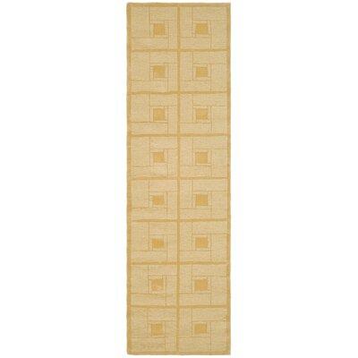 Square Knot Hand-Loomed Coarkboard Area Rug Rug Size: Runner 23 x 8