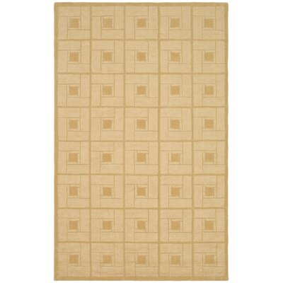 Square Knot Hand-Loomed Coarkboard Area Rug Rug Size: Rectangle 9 x 12