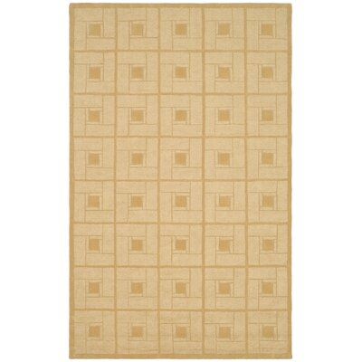 Square Knot Hand-Loomed Coarkboard Area Rug Rug Size: 5 x 8