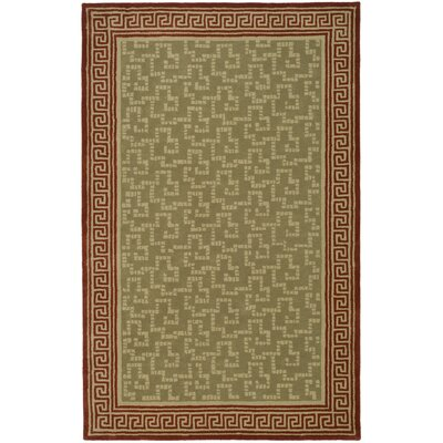 Byzantium Hand-Loomed Sealing Wax Area Rug Rug Size: Rectangle 5 x 8