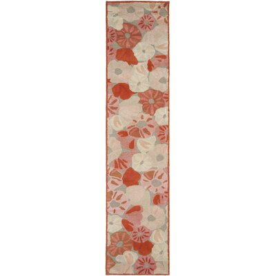 Poppy Field Hand-Tufted Cayenne Red Area Rug Rug Size: Runner 23 x 10