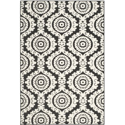 Algonquin Black Indoor/Outdoor Area Rug Rug Size: 6'7 x 9'6