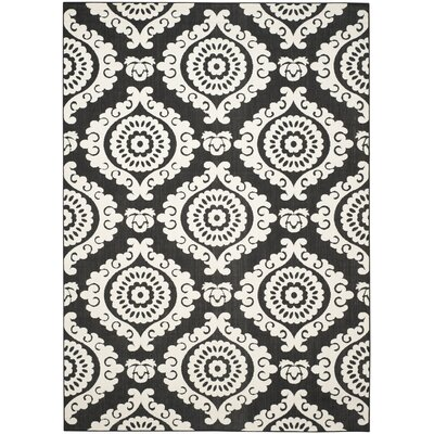 Deweese Black/Beige Outdoor Area Rug Rug Size: Rectangle 8 x 112