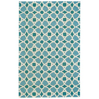 Hillcrest Hand-Tufted Lagoon Area Rug Rug Size: Rectangle 96 x 136