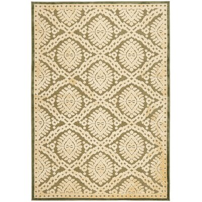 Hand-Loomed Dill Area Rug Rug Size: 53 x 76