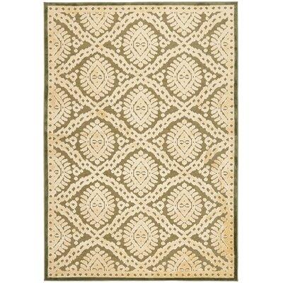 Hand-Loomed Dill Area Rug Rug Size: 53 x 76