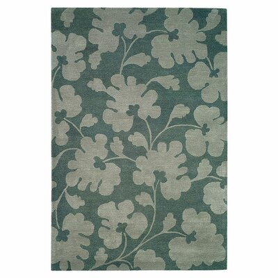 Armstrong Hand-Tufted Light Blue / Silver Area Rug Rug Size: Rectangle 76 x 96