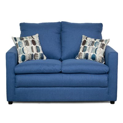 Theresa Loveseat Upholstery: Denim