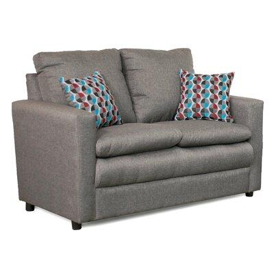 Theresa Loveseat Upholstery: Gray