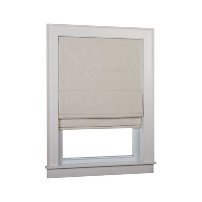 Richmond Blackout White Roman Shade Size: 36 W x 63 L, Finish: Linen