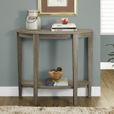 Blakeway Half Moon Console Table Finish: Dark Taupe