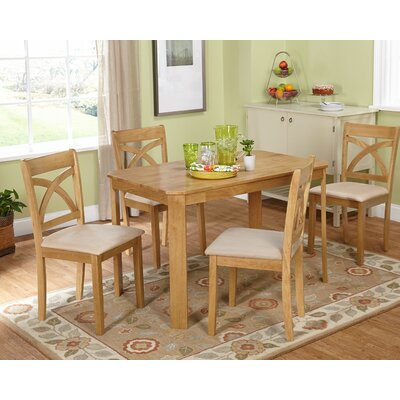Abigail 5 Piece Dining Set Finish: Natural / Oak