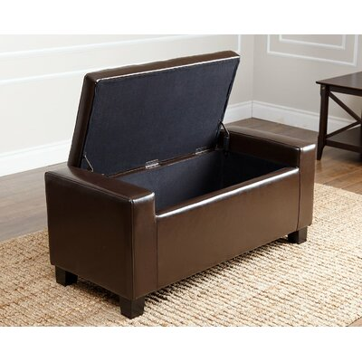 Appletree Storage Ottoman Upholstery: Dark Brown