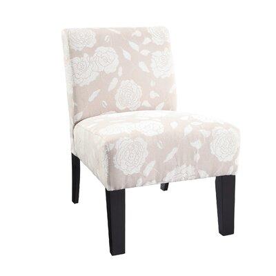 Samson Rose Slipper Chair Upholstery: Ivory Rose