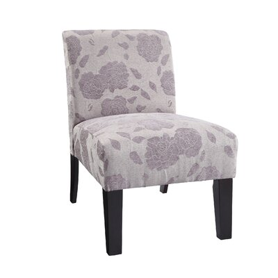 Loring Slipper Chair Upholstery: Purple Rose