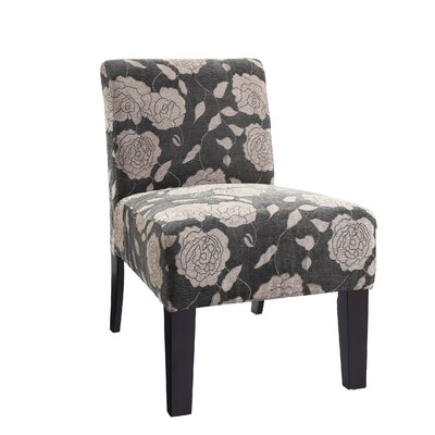 Loring Slipper Chair Upholstery: Grey Rose