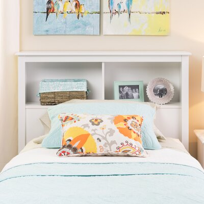 Hayman Bookcase Headboard Size: Full, Color: White