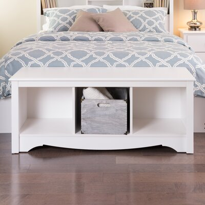 Sybil Storage Bedroom Bench Finish: White