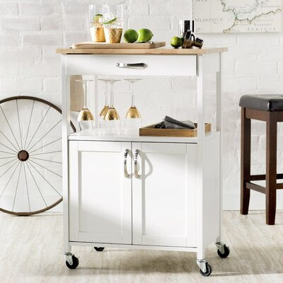 Abigail Kitchen Cart Base Finish: Ivory