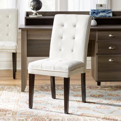 Gardner Side Chair (Set of 2) Upholstery: Ivory