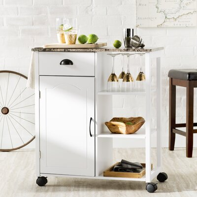 Irma Kitchen Cart with Marble Top