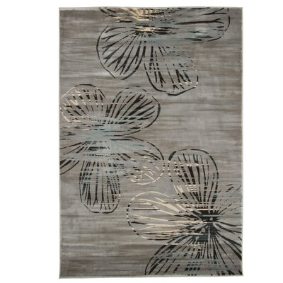 Kessinger Gray Area Rug Rug Size: 53 x 77