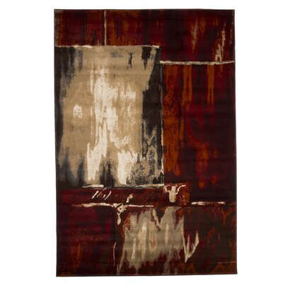 Kessinger Red Area Rug Rug Size: 53 x 77