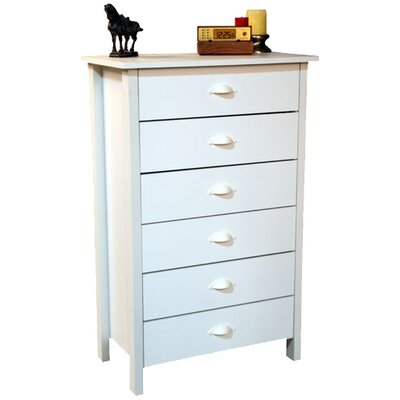 Ashton 6 Drawer Chest Color: White