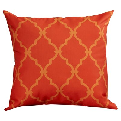 Reuter Trellis Throw Pillow Size: 18 H x 18 W, Color: Pumpkin