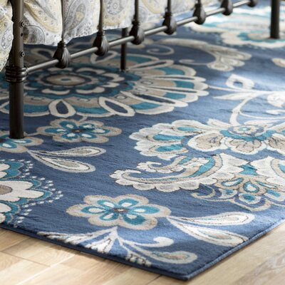 Tremont Blue Area Rug Rug Size: Rectangle 92 X 125