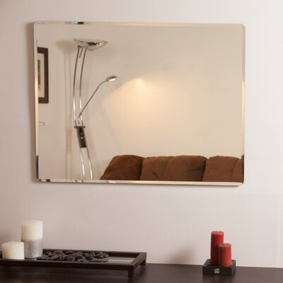 Rectangle Metal Frameless Wall Mirror