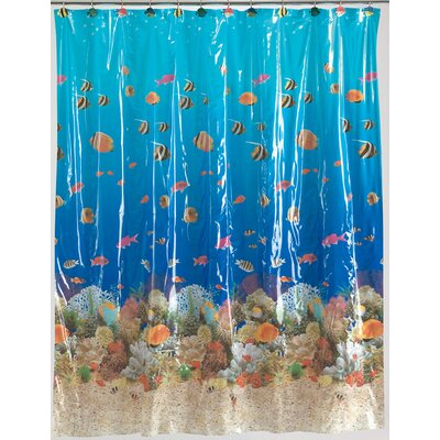 Shady Sealife Vinyl Shower Curtain