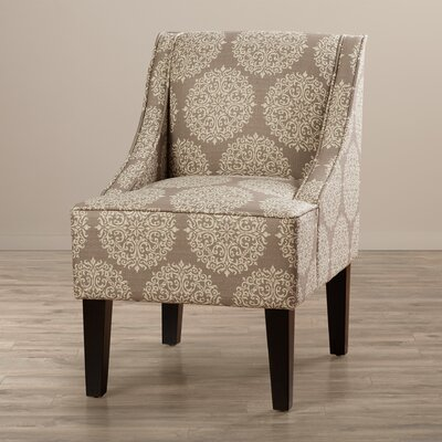 Adams Swoop Slipper Chair Upholstery: Stone