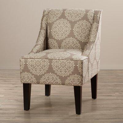 Adams Swoop Slipper Chair Upholstery: Stone