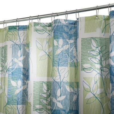 Nightingale Shower Curtain Color: Blue Green