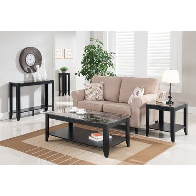 John 4 Piece Coffee Table Set Color: Black