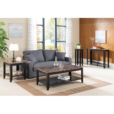 John 4 Piece Coffee Table Set Color: Cappuccino