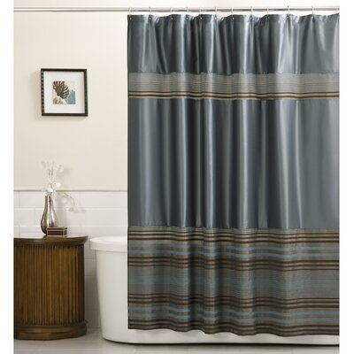 Oxyoke Striped Chenille Shower Curtain