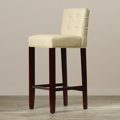 Beasley 30 Bar Stool Upholstery: Cream