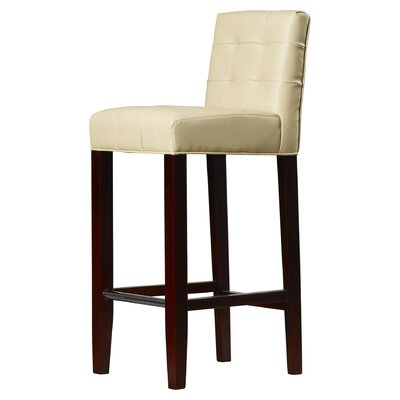 Robandy 30 inch Bar Stool Upholstery: Cream