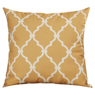 Reuter Trellis Throw Pillow Size: 18 H x 18 W, Color: Gold