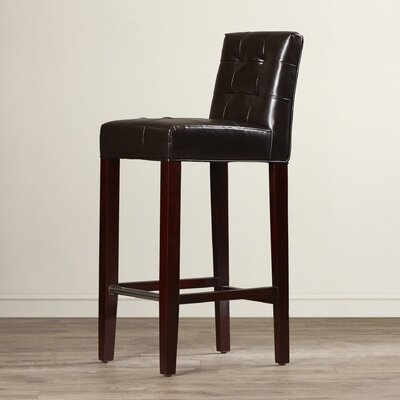 Beasley 30 Bar Stool Upholstery: Brown