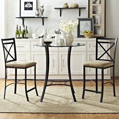 Boxwood 3 Piece Counter Height Dining Set