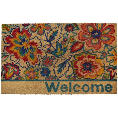 Carrie Floral Doormat Mat Size: Rectangle 16 x 24
