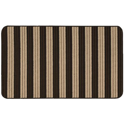 Ravens Black/Beige Striped Area Rug Rug Size: 18 x 210