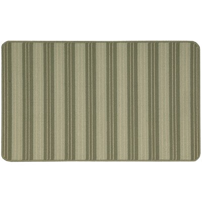 Ravens Light Green Striped Area Rug Rug Size: 18 x 210