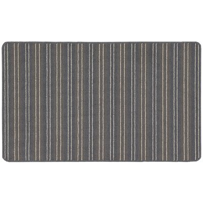 Ravens Gray Striped Area Rug Rug Size: Rectangle 2 x 34
