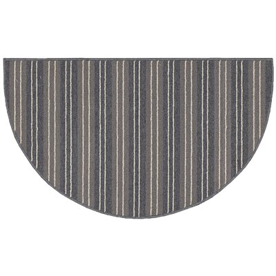 Ravens Gray Striped Area Rug Rug Size: Slice 18 x 210